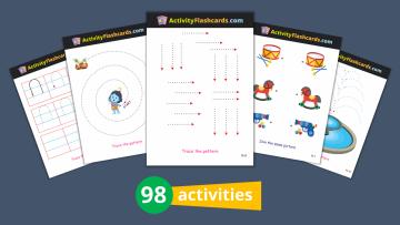 Activity Flash Cards write wipe erase nursery