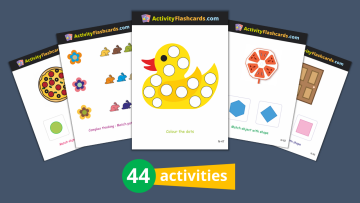 Colors and Shapes Flash Cards Nursery