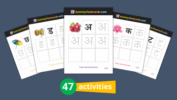Hindi Flash Cards for Kids