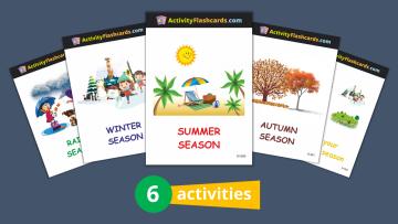 Seasons Flash Cards nursery