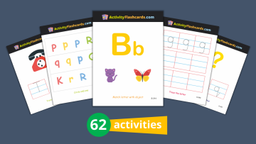 alphabet learning flash cards for kids