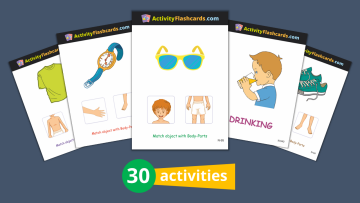 body parts flash cards nursery