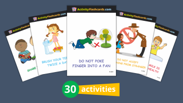 good habits and safety flash cards nursery