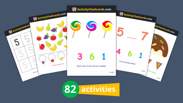 numbers flash cards nursery