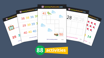 numbers learning flash cards for kids