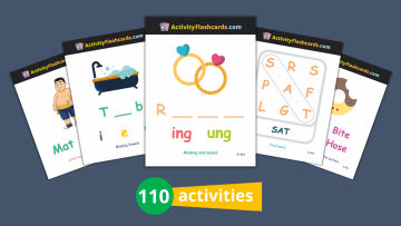 phonics learning flash cards for kids