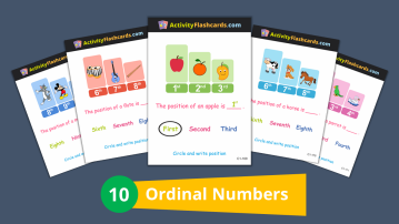 ordinal numbers math 1st Standard