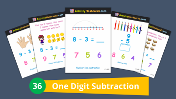 subtraction math class 1