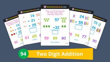 two digit addition math class 1