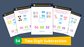 two digit subtraction class 1 math for kids